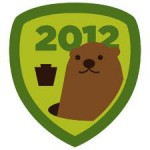 Groundhog Day badge på Foursquare