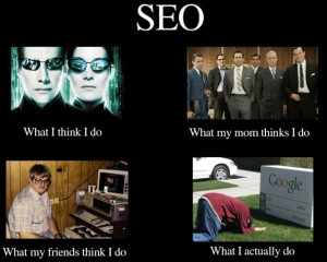 What People Think I do - SEO