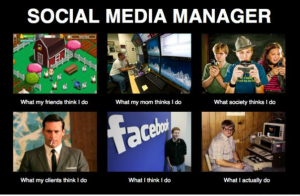 What People Think I do - Social Media Manager