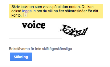 Google AdWords-CAPTCHA