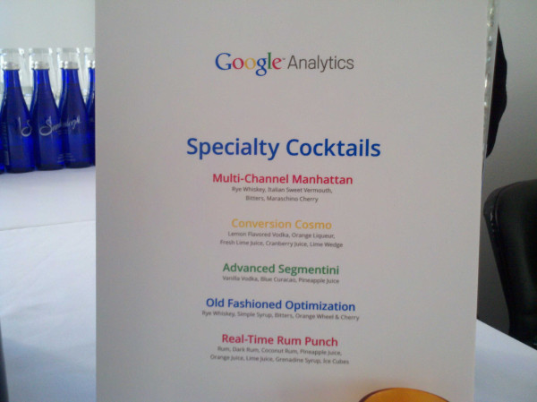 Google Analytics Specialty Cocktails