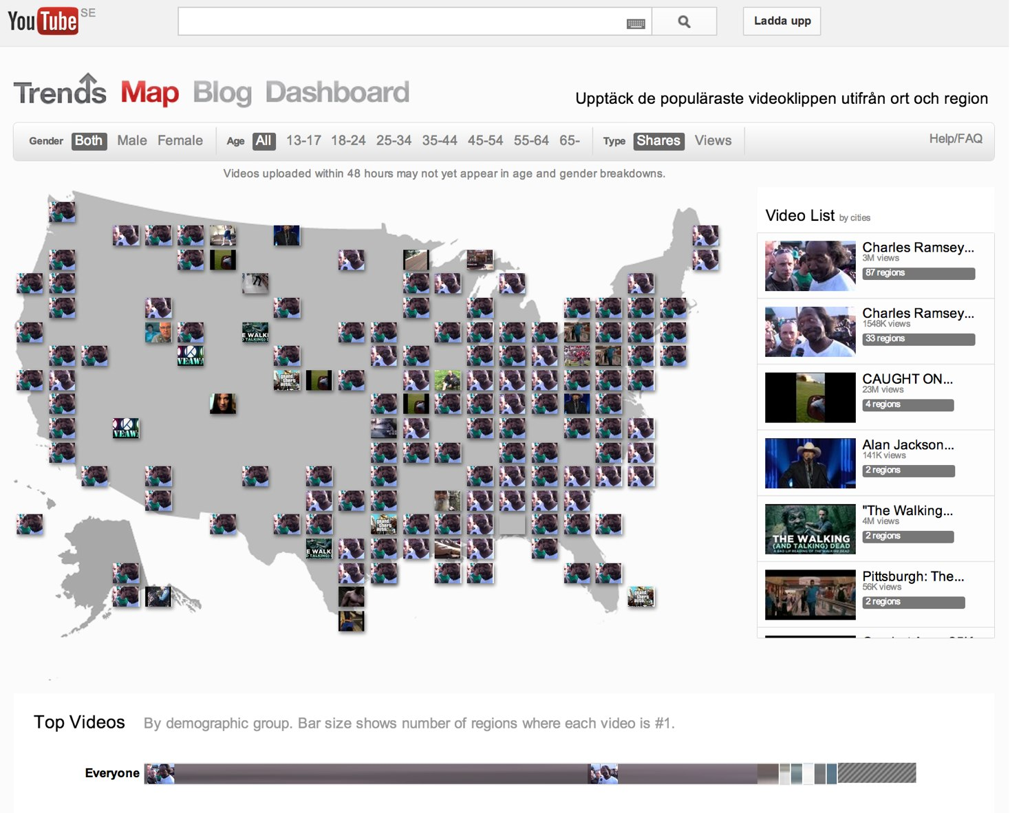 YouTube Trends Map - YouTube