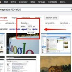 Hur du söker efter exakt bildstorlek på Google.