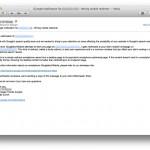 Personliga mail till webbansvariga från Googles kvalitetsteam